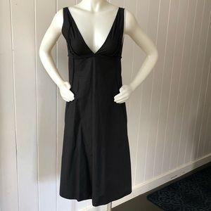Narciso Rodriguez Black Sleeveless Deep V Dress